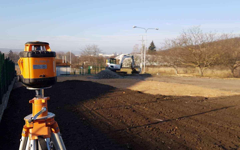 Rozšíření stávajícího parkoviště společnosti Norma - niveleta ve spádech