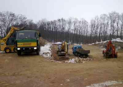 Zemní práce pro parkovací dům Brno